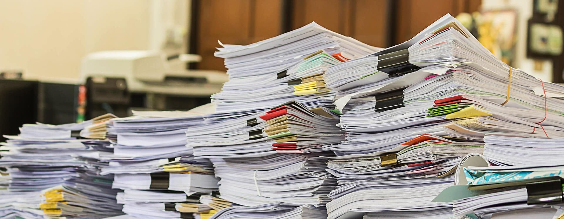 Stack of papers piled over each other
