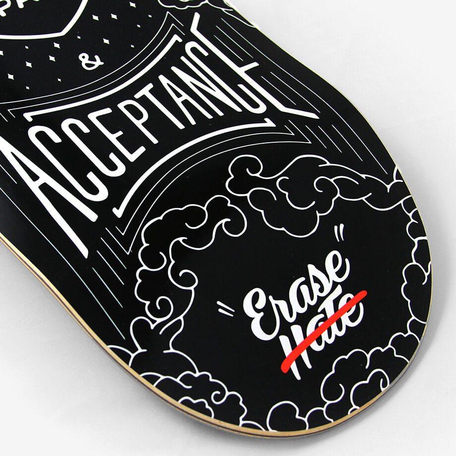 Grafik Blog Building Awareness for the Matthew Shepard Foundation Erase Hate Skateboard image
