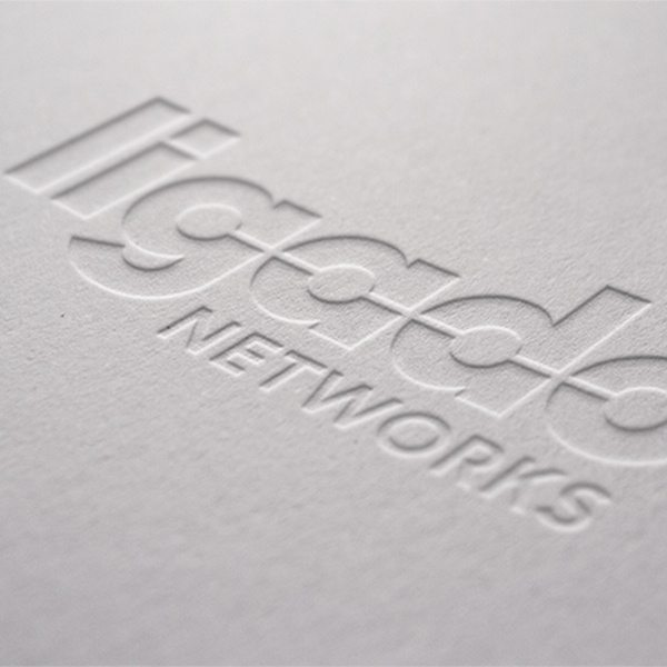 Photography of Ligado's marketing collateral pamphlet for their branding strategy.