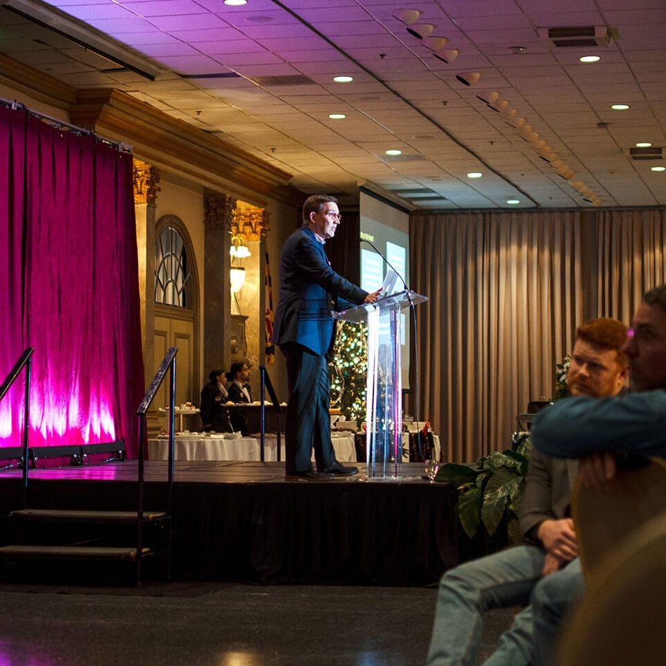 Hal Swetnam, SVP & Chief Creative Strategist, giving a presentation