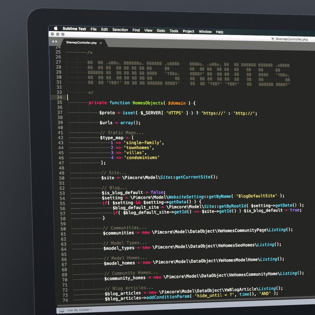 Van Metre - Homes Routes code on laptop